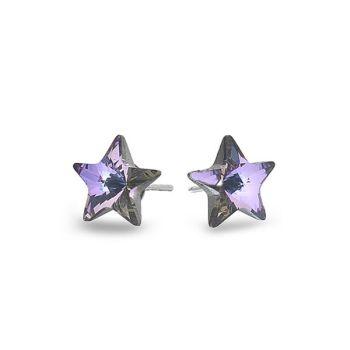 Swarovski Pink/Blue Star Studs