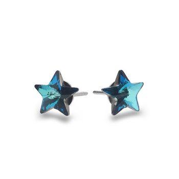 Blue Star Studs