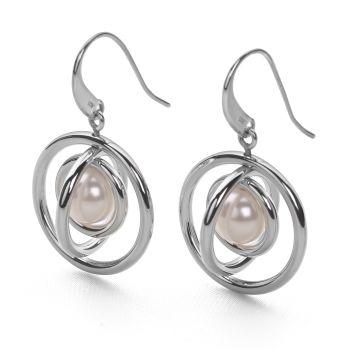 Saturn Pearl Earrings