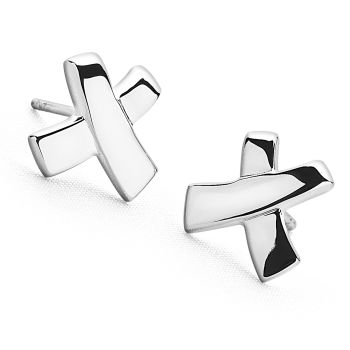 Ribbon Kiss Studs