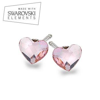 Swarovski Rosaline Heart Studs
