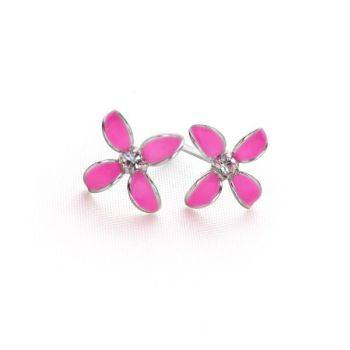 Paradise Flower Studs (Pink)