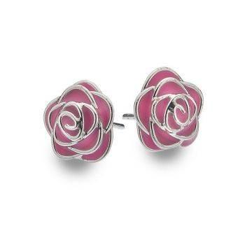 Rose de Mai Studs (Pink)