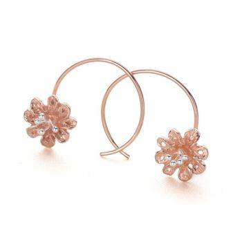 Floral Loop Earrings