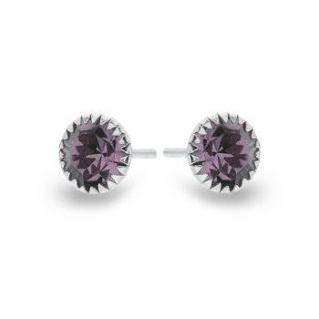 Pure Sparkle Studs (Purple)