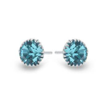 Pure Sparkle Studs (Blue)