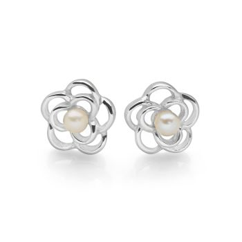Pearls and Petals Studs