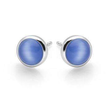 Radiance Studs (Blue Cat's Eye)