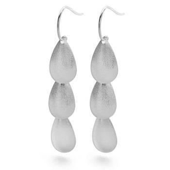 Brushed Tear Earrings