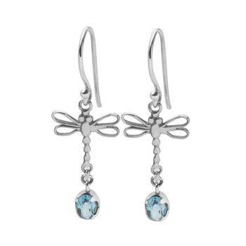 Blue Dasher Earrings