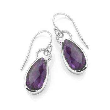 Lavender Droplet Earrings