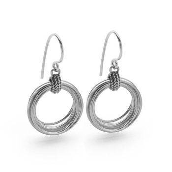 Silver Helix Earrings