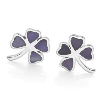 Lilac Clover Earrings