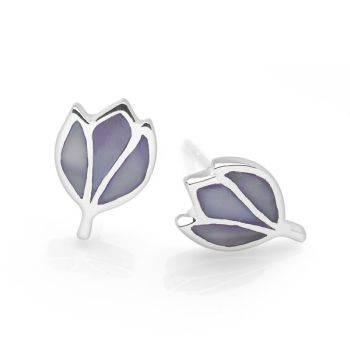 Lilac Lotus Studs