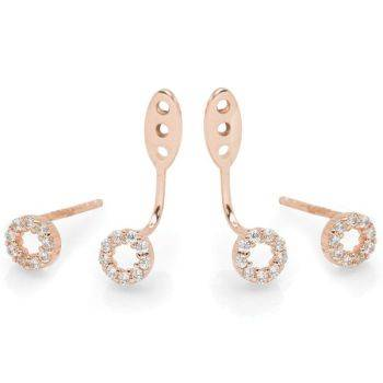 Aurora Rose Earrings (Ear Jacket)