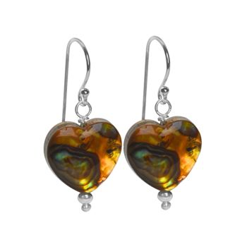 Autumn Abalone Earrings (Heart)