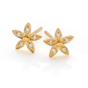 Golden Jasmine Studs