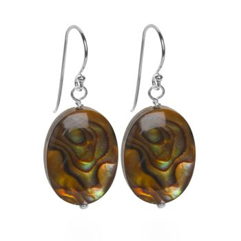 Autumn Abalone Earrings (Oval)