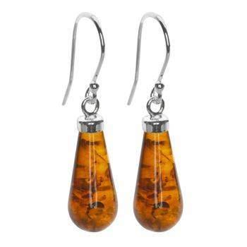 Cognac Rain Earrings (Large)