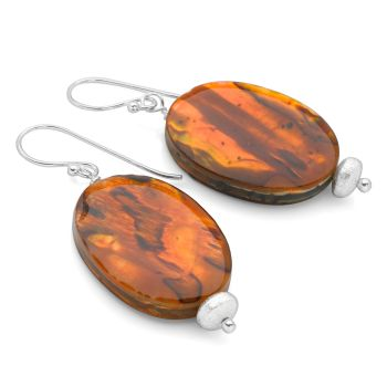 Abalone Ellipse Earrings