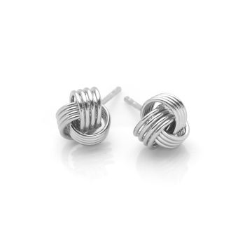 Love Knot Studs (Silver Large)