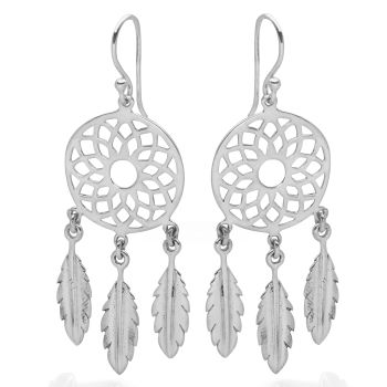 Lotus Dreamcatcher Earrings