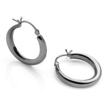 Romana Hoops Black Rhodium (Small)