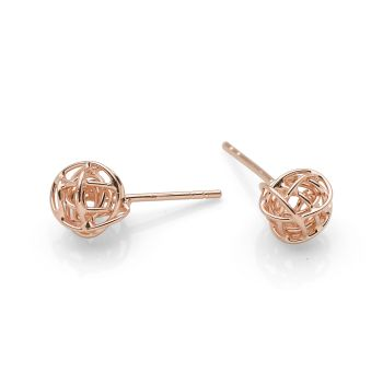I-lite Studs 9ct Rose Gold Plated