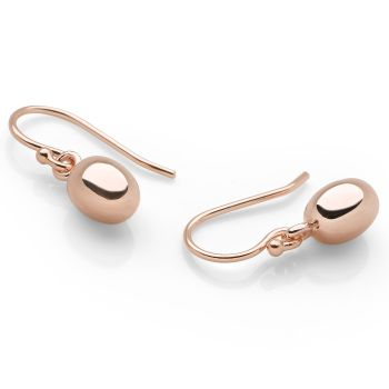 Rose Pearl Earrings 9ct Rose Gold Plated