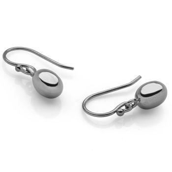 Black Pearl Earrings Black Rhodium Plated