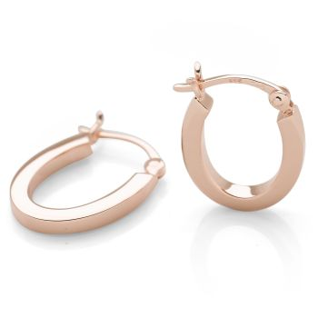 U-Nique Hoops (Rose Gold Plate)