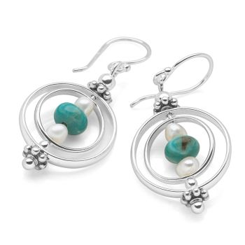 Turquoise Aura Earrings