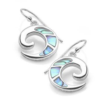 Abalone Ammonite Earrings