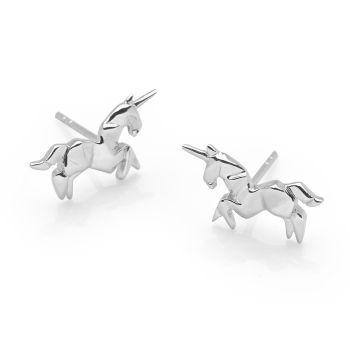 Origami Unicorn Studs