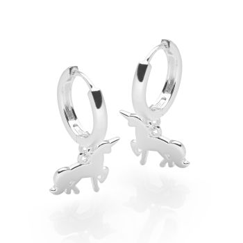 Unicorn Charm Hoops