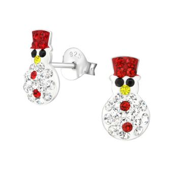 Sparkling Snowman Studs