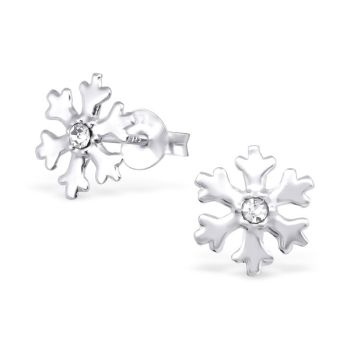 Shimmering Snowflake Studs