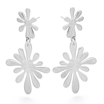 Silver Splash Earrings