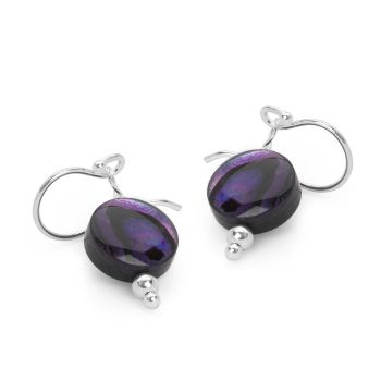 Mini Violet Moon Earrings