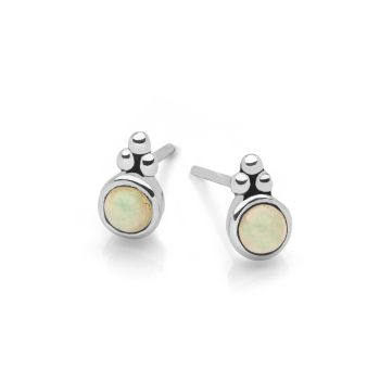 Opal Moon Studs
