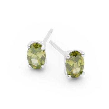 Oval Spark Studs (Green)