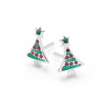 Mini Christmas Tree Earrings