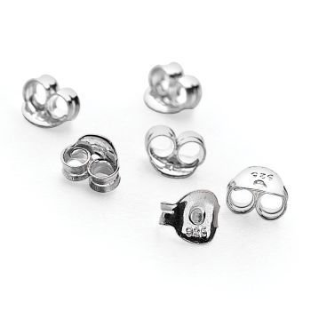 Silver Earring Backs (4 Pairs)