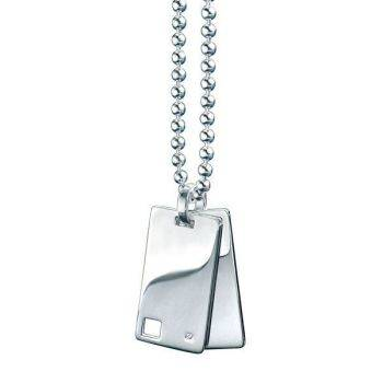Square Diamond Id Pendant