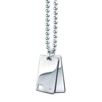 Square Diamond Id Pendant