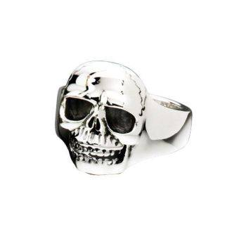 Oxidised Skull Ring