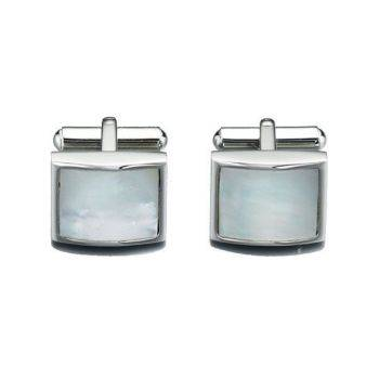 Mother of Pearl Steel Cufflinks