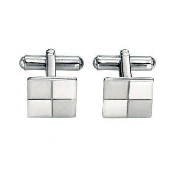 Steel Brushed and Polished Cufflinks