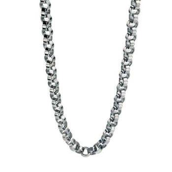 Steel Round Links Necklace