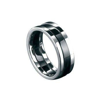 Steel and Black PVD Ring